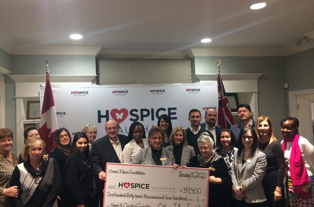Hospice Vaughan Kicks Off 2020 with Celebration of Two Ontario Trillium Grants